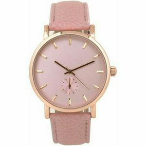 Women's Pink Face Watch, Pink Faux Band